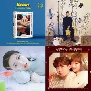 ALBUM LIST (1TEAM, STELLA JANG, YOUNG B, OST)