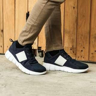 Sepatu Sneakers Pria Casual Flavio Navy