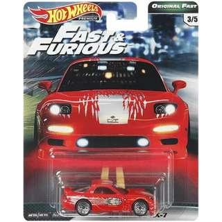 Hotwheels 2019 Fast & Furious Series Wave 2 '95 Mazda RX-7 Rare Hot Wheels
