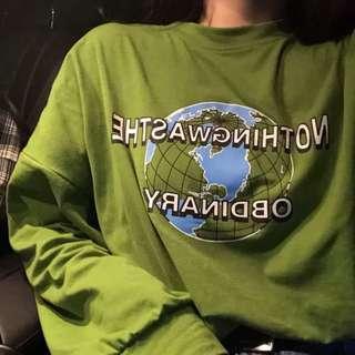"Green ""obdinary"" long sleeve"