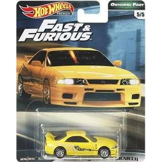 Hotwheels 2019 Fast & Furious Series Wave 2 Nissan Skyline GT-R (BCNR33) Rare Hot Wheels