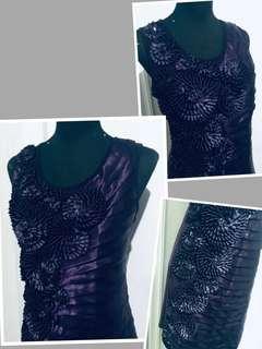 Formal dark violet dress