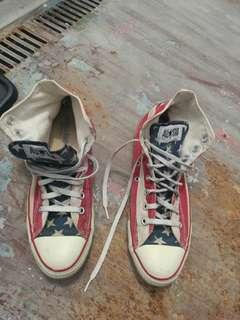 Vintage converse american flag made in usa