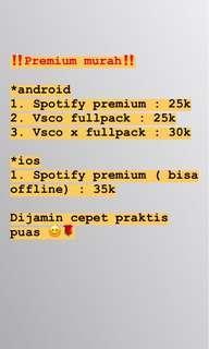 Spotify VSCO PREMIUM PROMO MURAH
