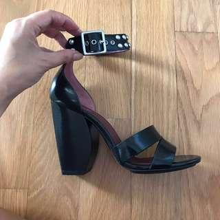 Marc by Marc Jacobs Leather Stuffed Heels (Authentic, NEW)
