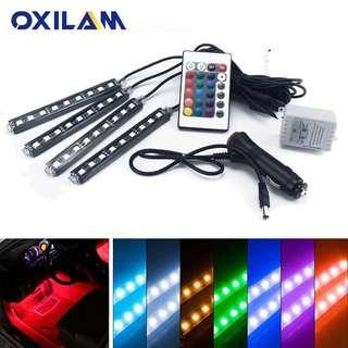 LED Strip RGB Atmosphere Lamp Car Interior Ambient with Remote Control