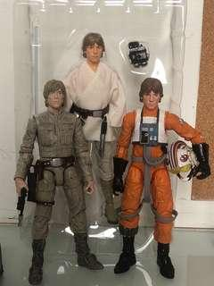 Star Wars Luke Skywalker x 3