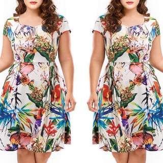 Plus Size Floral Formal Dress