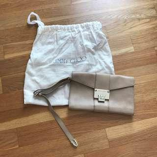 🚚 Jimmy Choo Leather Clutch / Wristlet (Authentic)