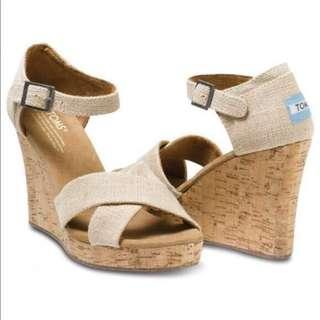 TOMS Strappy Wedge US11