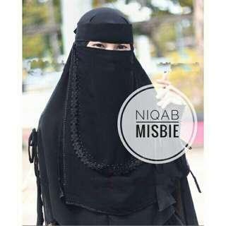 Niqab Misbie Niqab Bandana Permata List Bisban Sifon