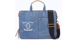 """Marc Jacobs Denim 13"""" Laptop Bag (Authentic, Unused)"""