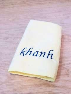 Personalized Embroidery service on Face Towel