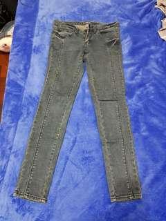 🚚 #半價衣服拍賣會 韓版刷色牛仔褲#27腰