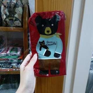 日本帶回🎌 現貨 紅色BON熊防水收納袋(長)