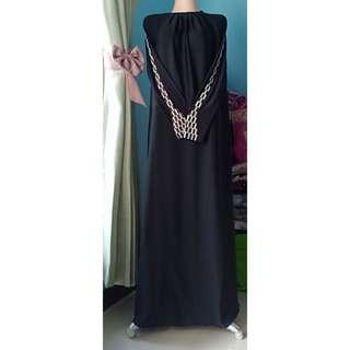 ABAYA BLACK IMPORT MADINAH