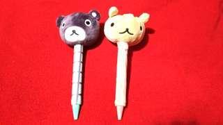 🚚 🌼 銅板價$50🌼【全家】阿郎基 娃娃筆 黑熊君、松鼠妹