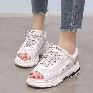Open-Toe Rubber Shoes