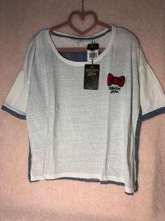 🚚 【Lily搬家出清】Hello Kitty x MimoSOMETHING 聯名款 刺繡棉質 寬鬆上衣 尺寸:F 全新品