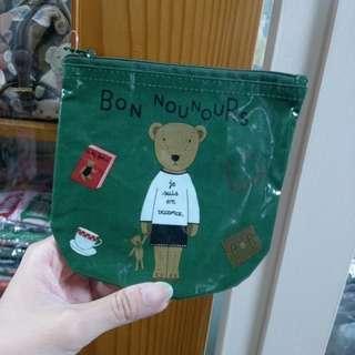 日本帶回🎌 現貨 綠色BON熊防水收納袋(短)