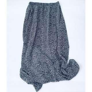 🚚 Nine West Leopard Skirt maxi