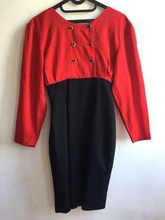 90's Red Dress #dibuangsayang