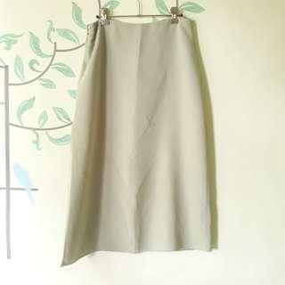 Mint Green Long Skirt with Slit
