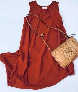 Play dress Rust orange maxi dress