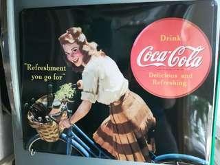 家中舊物懷舊可口可樂美女擺設金屬牌