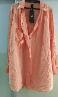 9months long sleeves blouse in Orange