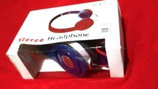 📢百元📢 Stereo 藍色 耳罩式耳機