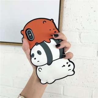 We Bare Bears Rubber Iphone Casing