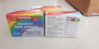 🚚 BNIB Queen Rainbow Food Colors