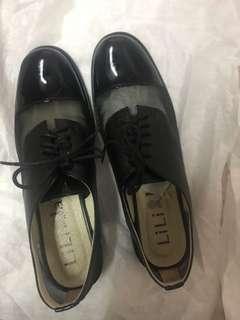 🚚 許許兒 X Lili Jan 法式典雅全真皮 手工細網牛津鞋