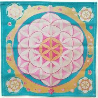 🚚 【沐星藝坊】生命之花 神聖幾何 祭壇布 桌布 蓮花 脈輪 安卡 靈性擺件 魔法儀式工具