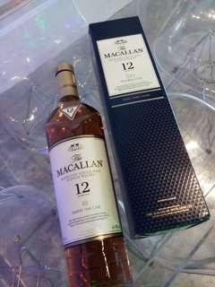 Maccallan double cask sherry oak 12 years