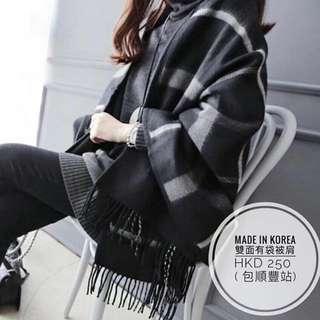 韓國🇰🇷🇰🇷 兩用連口袋頸巾