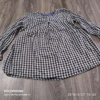 Monochrome Babydoll Top