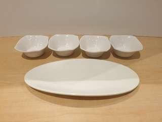 Small Saucers & Serving Plate