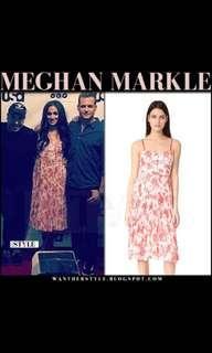 Club Monaco pleats dress worn by Megan