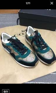 全新 Coach keith Haring 合作款 限量版 塗鴉 LOGO 休閒鞋 球鞋 慢跑鞋..盒裝提袋...免運費