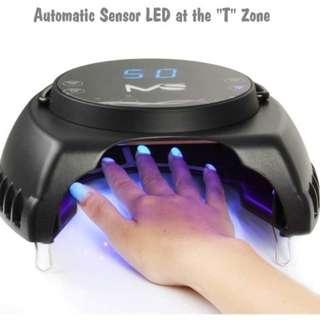 2445 MelodySusie Pro60W Nail Lamp - Mixed LED&UV Lamp Beads Quick Curing ALL LED UV Gel Polish - Smart Sensor Design and With Timer Setting 15s/30s/45s/60s