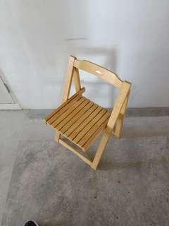 🚚 Foldable wooden chair left 1 for sale