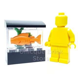 Lego Minifigure Furniture Accessory (MOC) - Fish Tank Setup