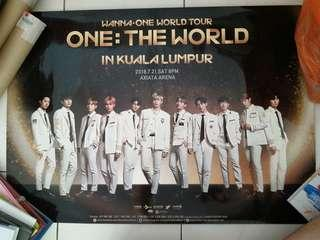 Wanna One concert in KL official Poster