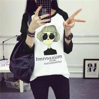 🚚 韓款女孩個性 T 恤