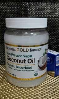 椰子油 54oz/1.6L Coconut Oil, Organic, unrefined, Cold-pressed Virgin 有機 冷壓初榨 非精製