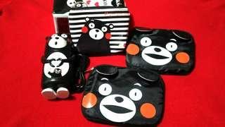 熊本熊造型 usb電扇+2*環保袋+零錢包