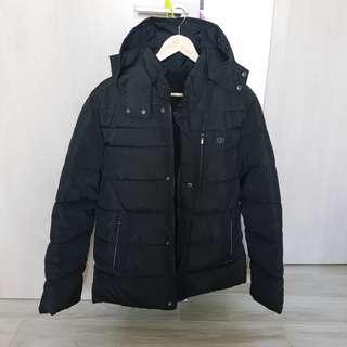Men Thick Winter Down Jacket Winter Down Coat Removable Hood