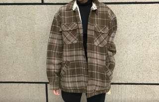 🚚 古著格紋外套